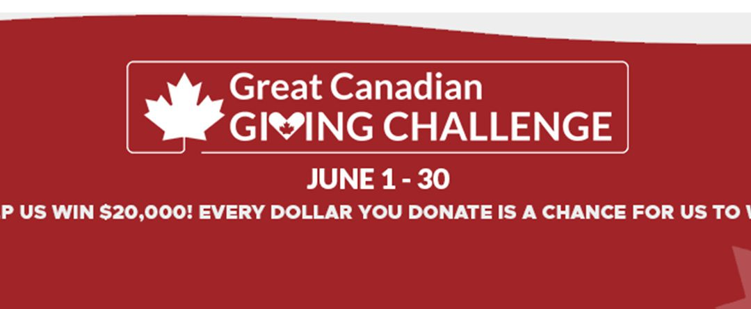 Participate in the Great Canadian Giving Challenge!